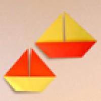 قایق بادبانی کاغذی