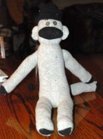میمونی از جنس جوراب