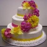 گل آرایی روی کیک